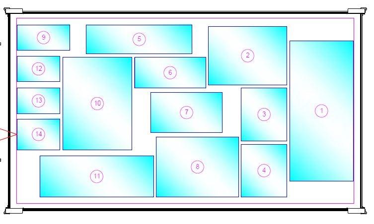 sample of automatic glass sheet nesting